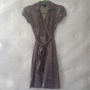 INC Snake Print Wrap Dress